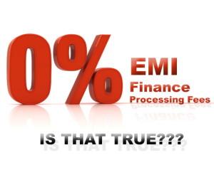 Zero Percent EMI zero percent scheme