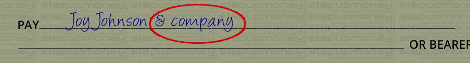 Payee name mistakes in a cheque