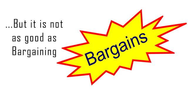 bargaining at shops