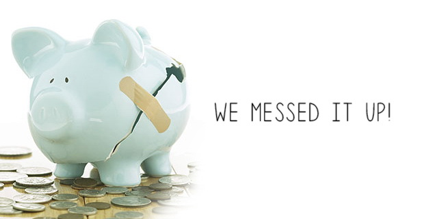 How easily we mess our finances