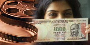 How bollywood movies show money