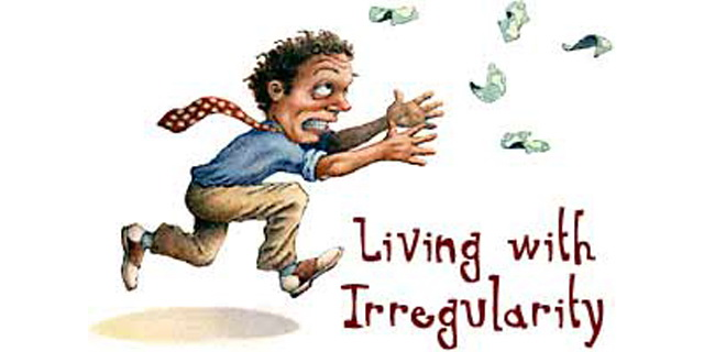 irregular income and savings